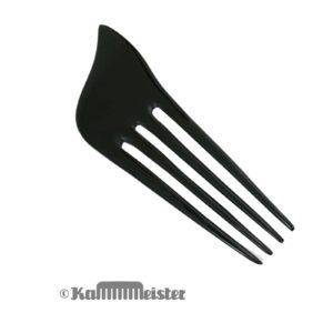 Haarnadel 4-zinkig - Steckkamm - aus schwarzem Wasserbüffel Horn