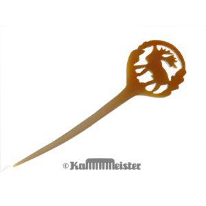 Haarnadel Haarstab 1-zinkig aus hellem Horn - Hirsch - Elch