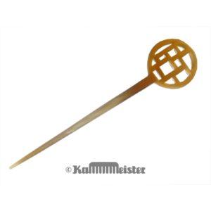 Haarnadel Haarstab 1-zinkig - helles Horn - eckig gesägt