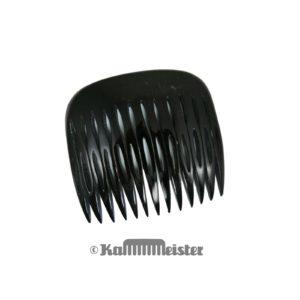 Steckkamm aus schwarzem Horn - klassische Form