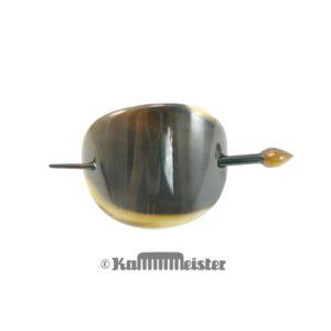 Haarspange mit Nadel aus Horn - Klassische geschlossenen Schild Form