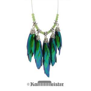 Kette Collier - fünffach - Flügeldecken Sternocera Prachtkäfer