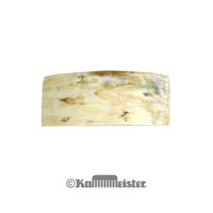 Haarspange mit Clip - Patentspange - helles Horn Rechteckig